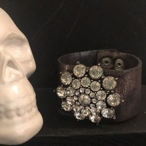 CZ and marble cuff